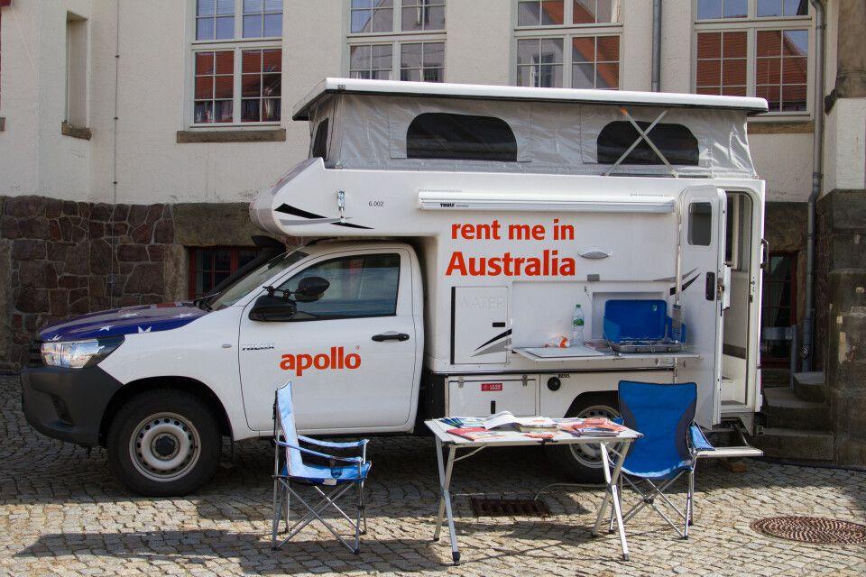 Die Wohnmobil-Profis Apollo Camper und Maui präsentierten vor Ort ihre Mietwagen.