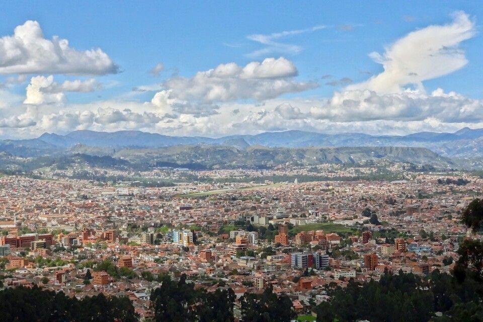 Blick auf die Stadt Cuenca