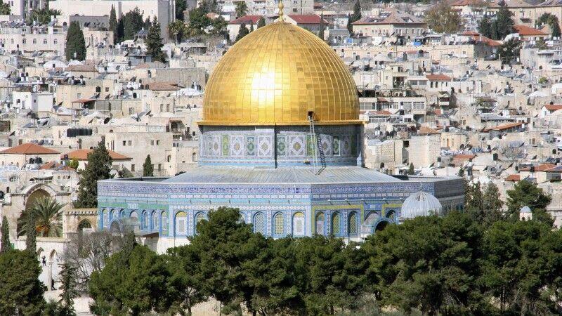 Blick auf den Felsendom in Jerusalem © Diamir