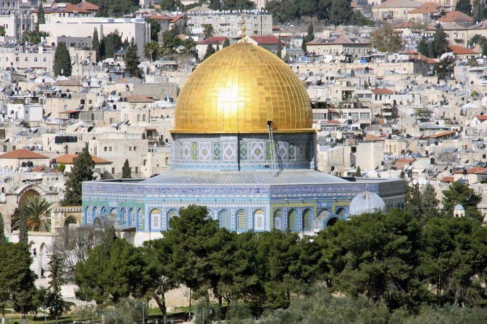 Blick auf den Felsendom in Jerusalem