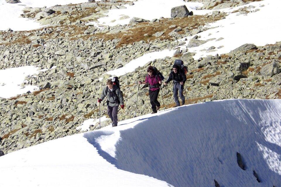 In den hohen Lagen liegt oft noch Schnee