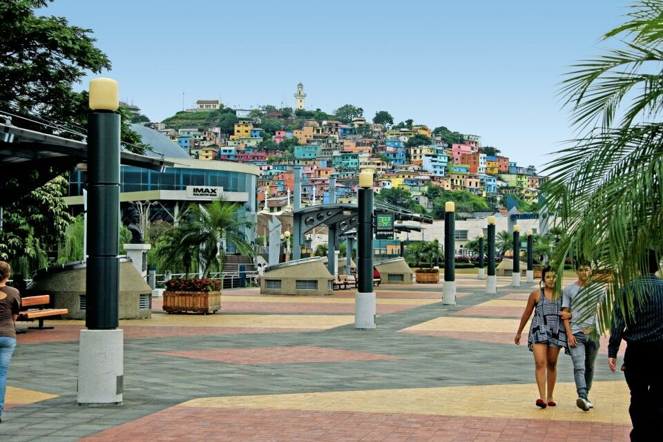 Blick auf den Cerro Santa Ana in Guayaquil