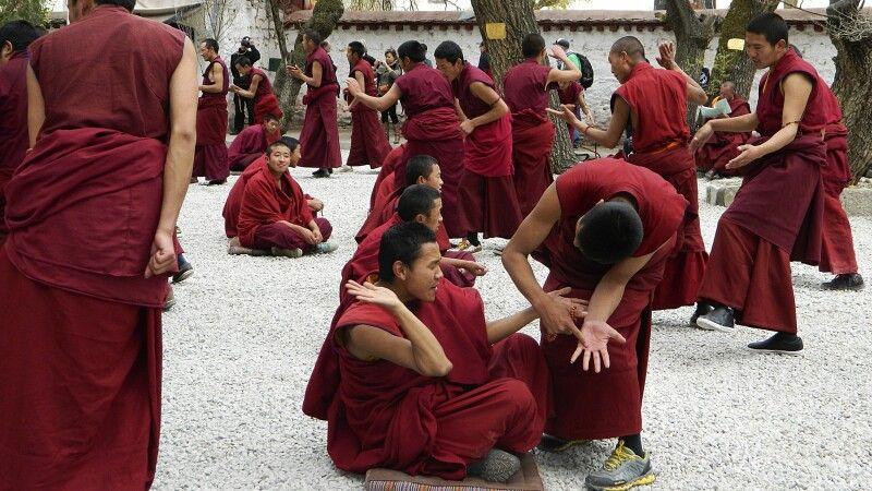 Debattieren der Mönche im Kloster Sera © Diamir