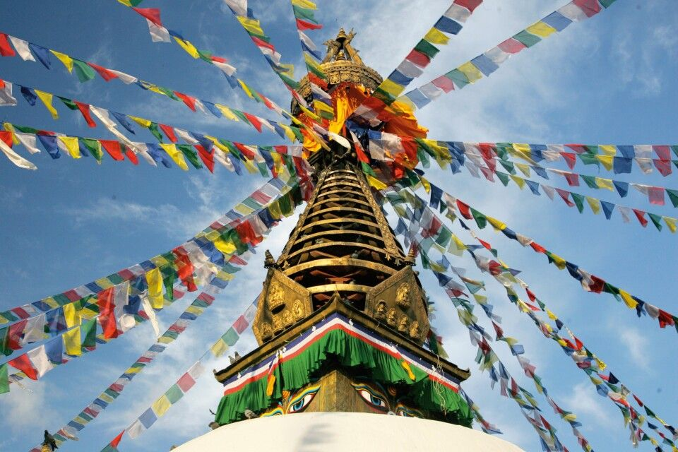 Affentempel Swayambhunath in Kathmandu