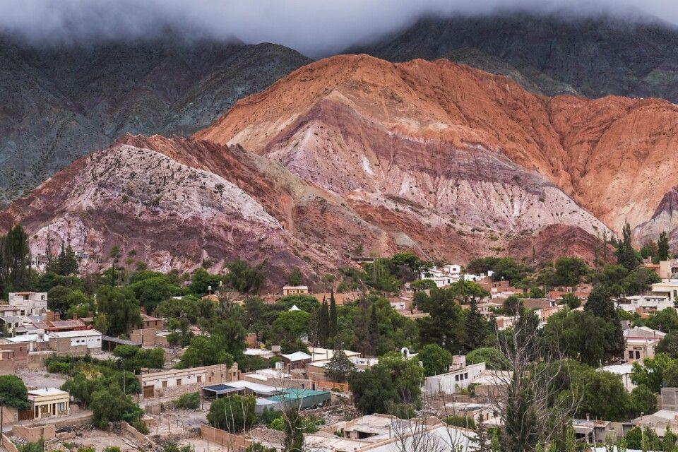 Siebenfarbiger Felsen in Purmamarca