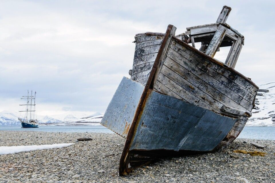 Schiffsporträt mit der Antigua, Skansbukta