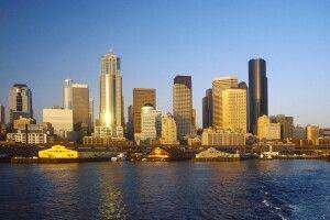 Die Skyline von Seattle