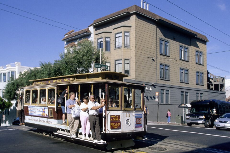 Die berühmte Cable Car in San Francisco