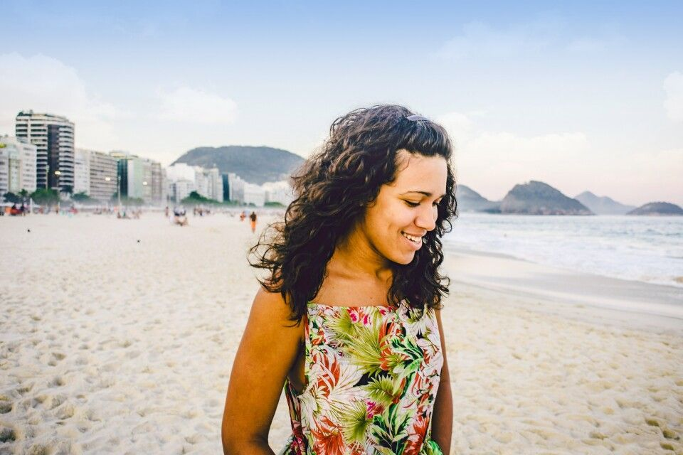 Am berühmten Copacabana-Strand in Rio de Janeiro