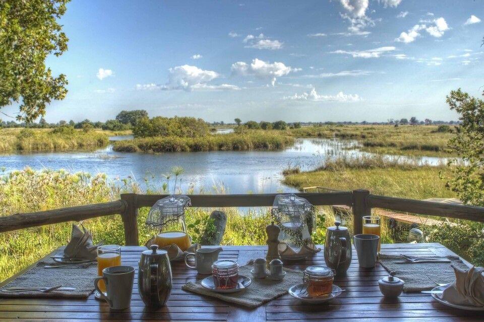 Shinde Camp, Frühstück direkt am Flussufer