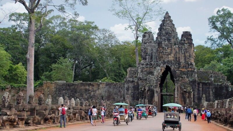 Eingangstor von Angkor Thom  © Diamir