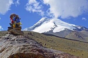 Markha Valley Trek, Blick von Nimaling auf Kang Yatze II