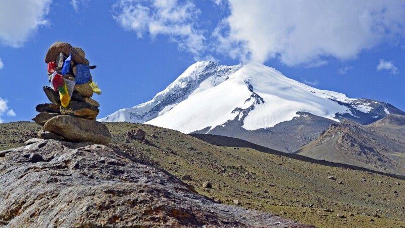 Markha Valley Trek, Blick von Nimaling auf Kang Yatze II © Diamir