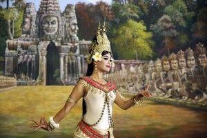 Tempeltänzerin in Angkor