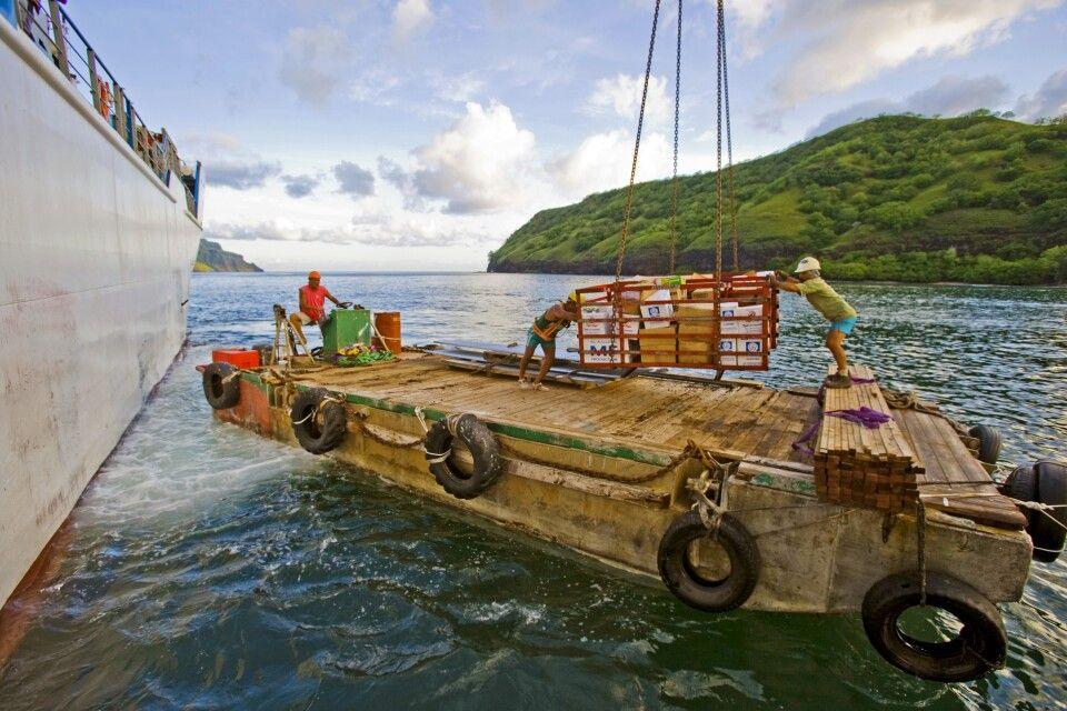 Warenentladung der Aranui