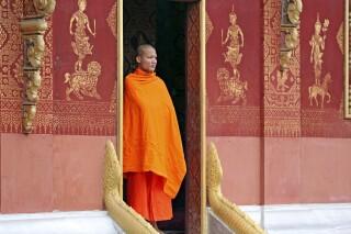 In einem Kloster in Luang Prabang