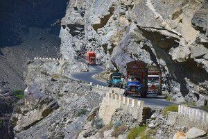Spannende Straßen im Norden Pakistans.