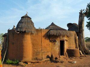 Koussoucoingou,Tata Somba, Huette, Dorf