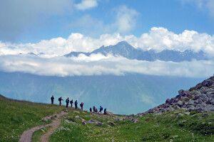 Wandern im wilden Kaukasus.