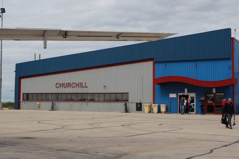 Der Flughafen in Churchill, Manitoba
