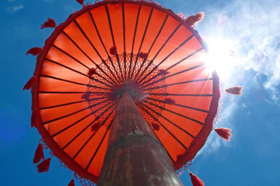 Asiatischer Tempelschirm