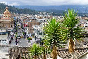 Blick über Otavalo