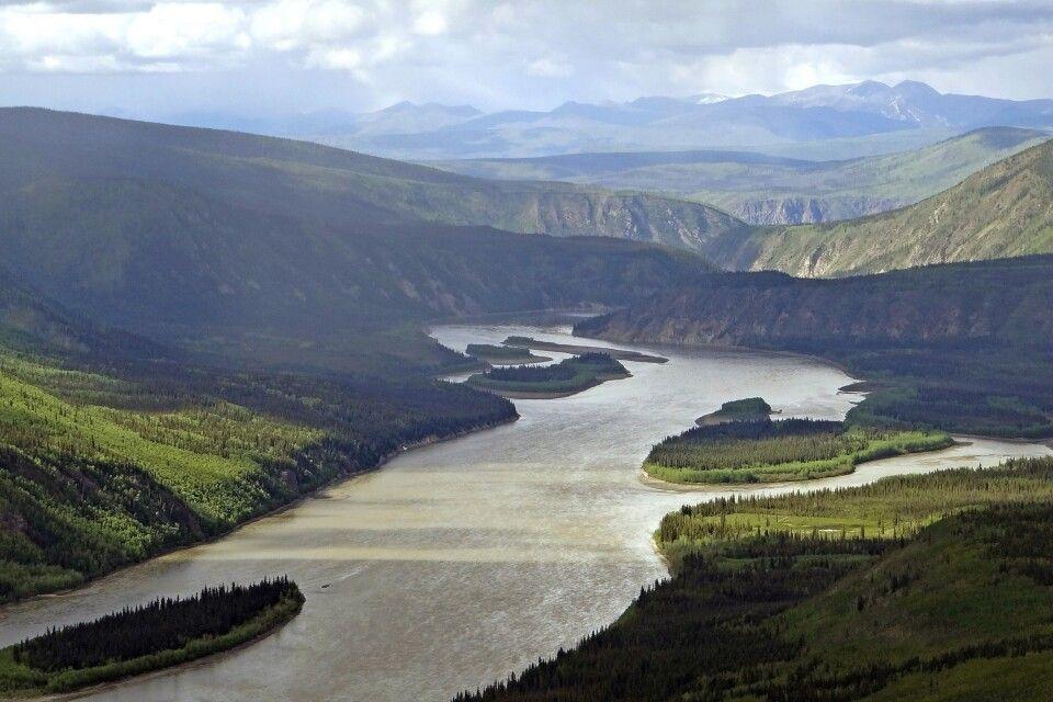 Die Aussicht vom Midnight Dome – dem Hausberg von Dawson City