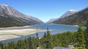 Atemberaubende Aussicht am Anfang des Chilkoot Trails