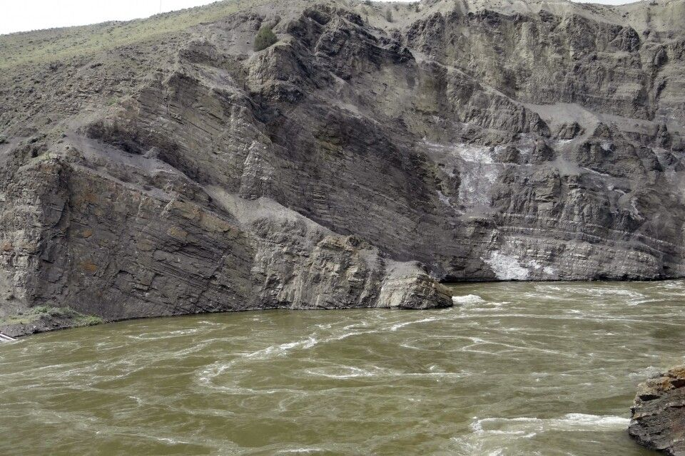 Bizarre Felsen entlang des Thompson River