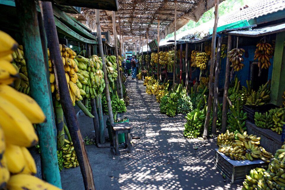 Bananenmarkt in Madurai
