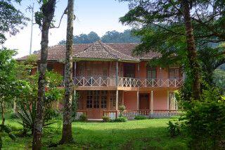 Landschaftszenen unterwegs auf Sao Tome