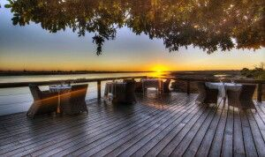 Chobe Game Lodge: Frühstücksdeck