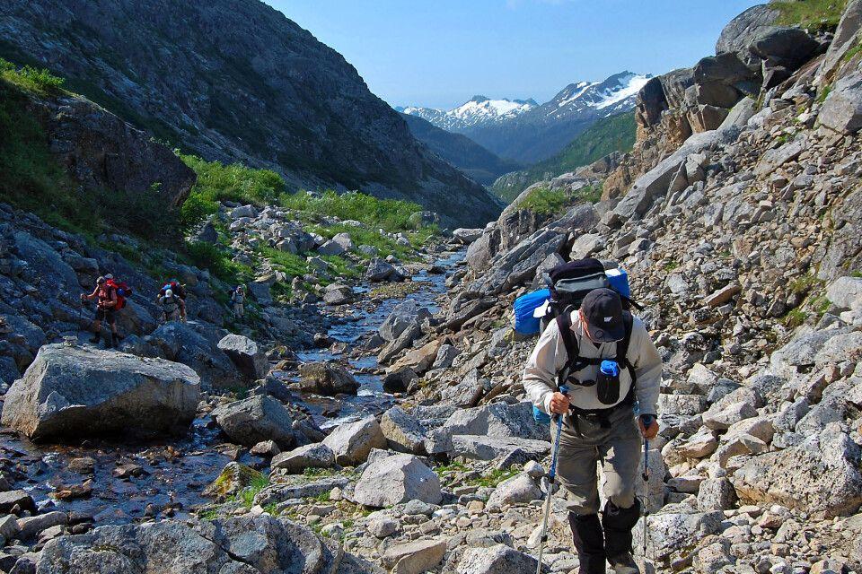 Wanderer auf dem Chilkoot Trail