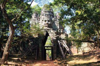 Eines der Tore von Angkor Thom