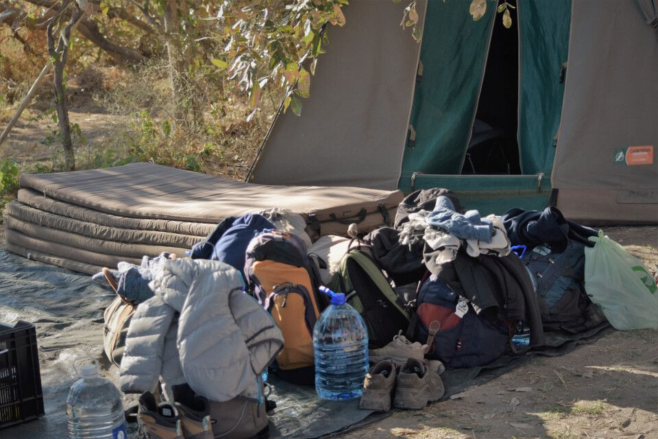 Ausrüstung für den Ausflug ins Okavango-Delta