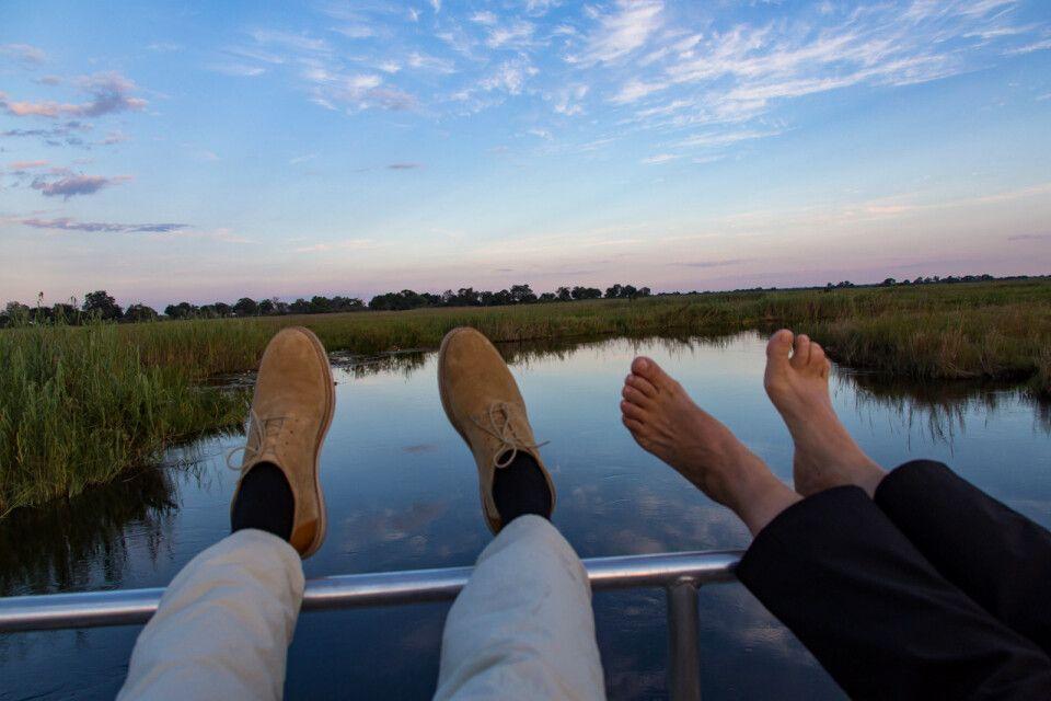 Auf dem Boot in der Sambesi-Region