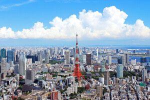 Blick auf Tokio mit dem Tokio-Tower