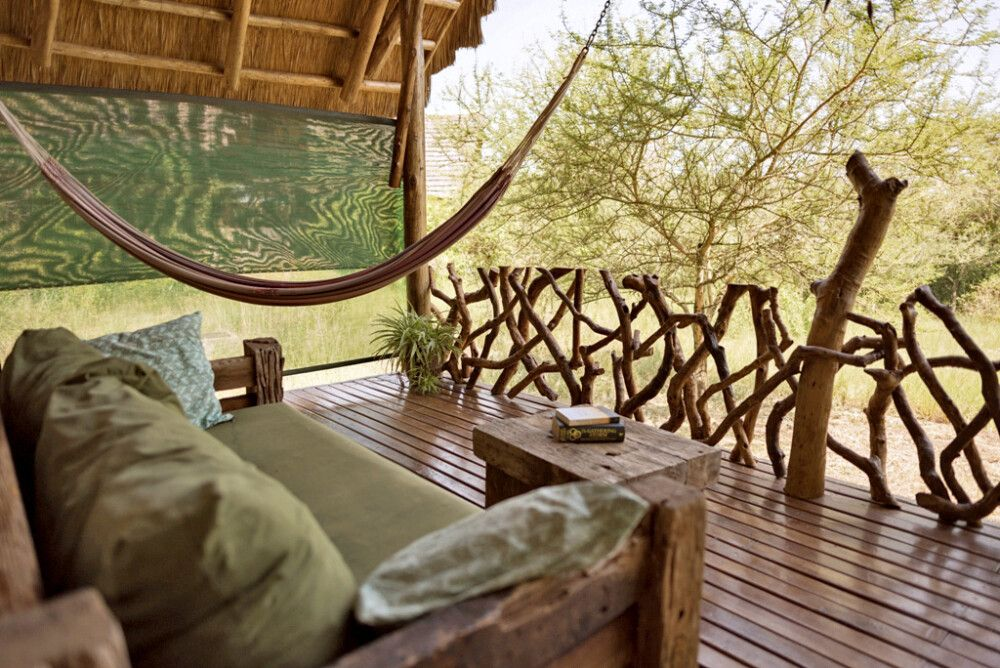 Veranda vom Cottage der Murchison River Lodge