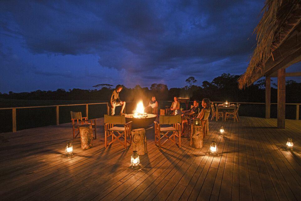 Abendstimmung im Mboko Camp