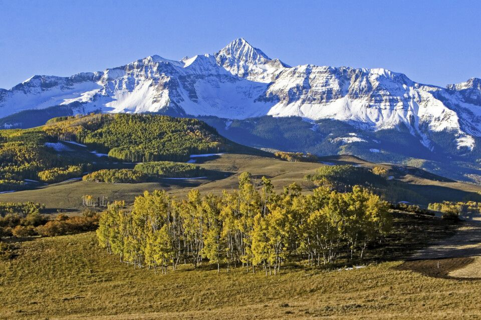 Schöne Rocky Mountain-Kulisse nahe Telluride, Colorado