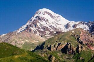 Blick auf Kasbek (5047m)