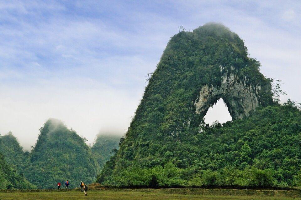 Trekking in der Gegend von Cao Bang
