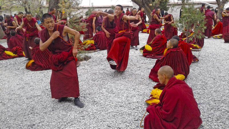 Debattierende Mönche im Kloster Sera © Diamir