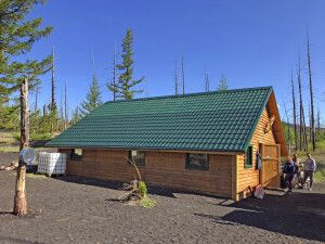 Hütte am Tolbatschik im Toten Wald