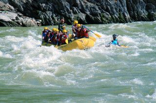 Rafting auf dem Trishuli-Fluss