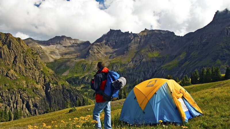 Wanderer im Zeltcamp, San Juan Mountains, Colorado © Diamir