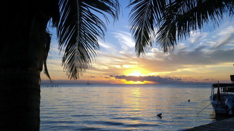 Sonnenaufgang auf der Insel Ambergris Caye © Diamir