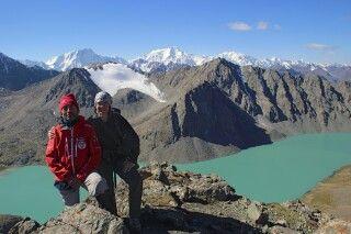 Auf dem Alakul Pass (3900 m)