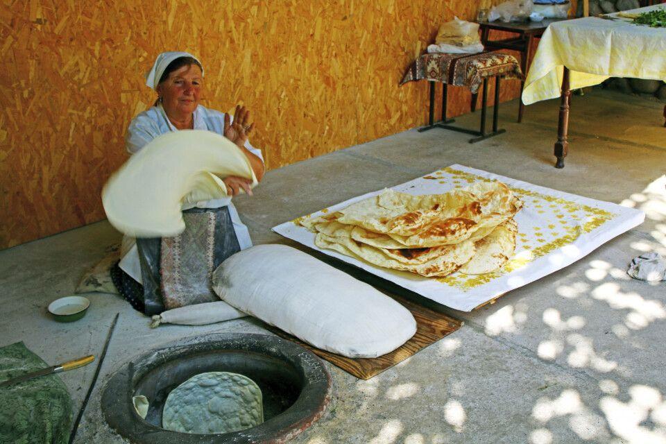Backen vom Brot Lavasch