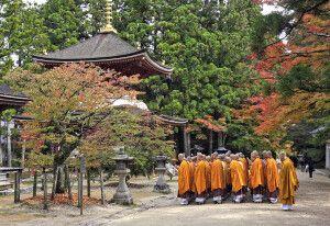 Buddhistische Mönche in Koyasan